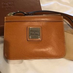 Dooney & Bourke Tan Leather Wristlet